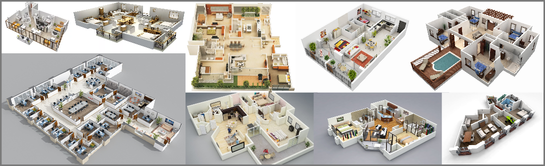 3D Floor Plan Modeling and Visualization Services