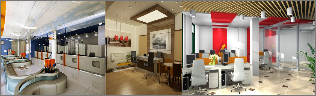 3D Office Interior Modeling and Visualization Services