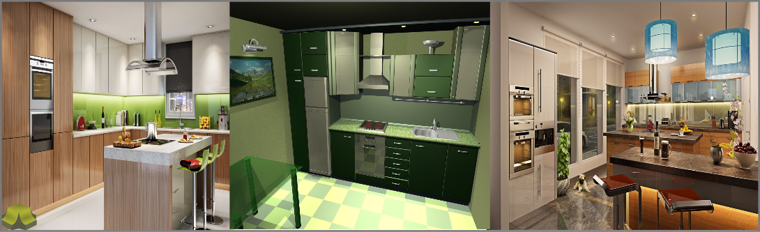 3D kitchen Modeling and Visualization services