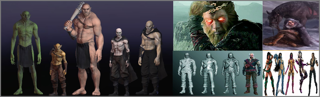 3d Character Modeling and Visualization services