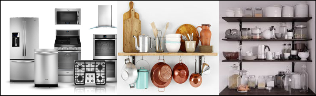 3d Kitchenware Modeling and visualization