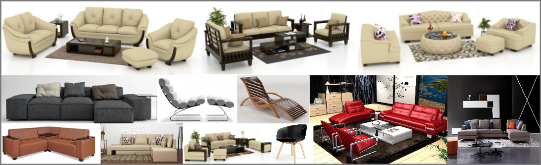 3d Sofa Chair Modeling and Visualization Services