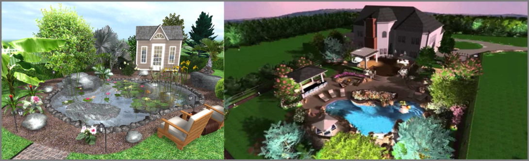 Creation and visualization of landscape design of the site