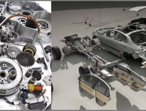 3D visualization of car parts