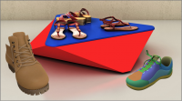 3d shoe and sandle Modeling and visualization