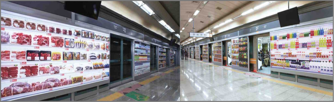 Shopping in the 3d virtual supermarket