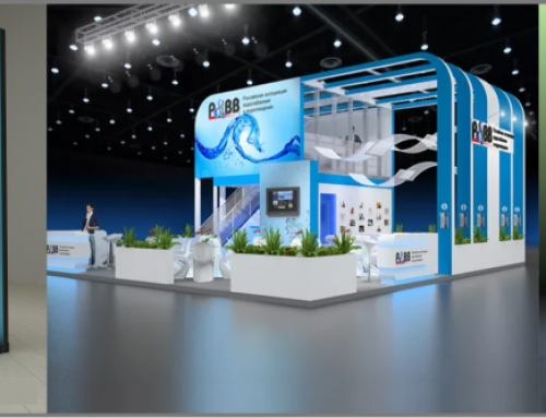 Tailored booth design with 3D visualization
